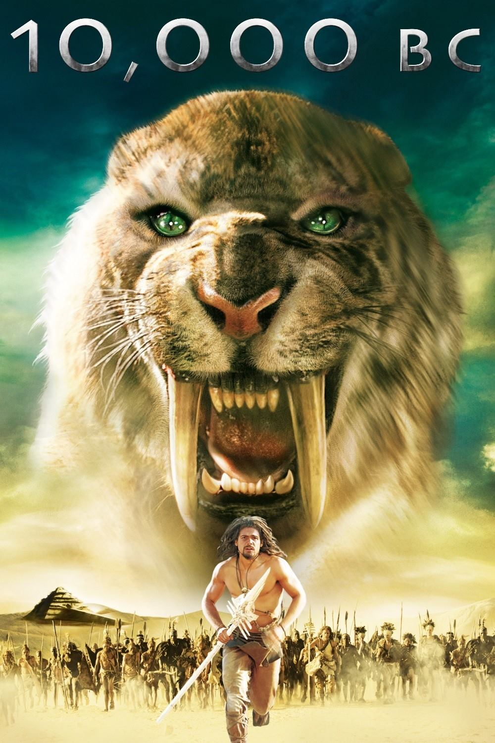 10,000 BC (2008) Hindi Dual Audio 720p BluRay ESubs 800MB x264 AAC