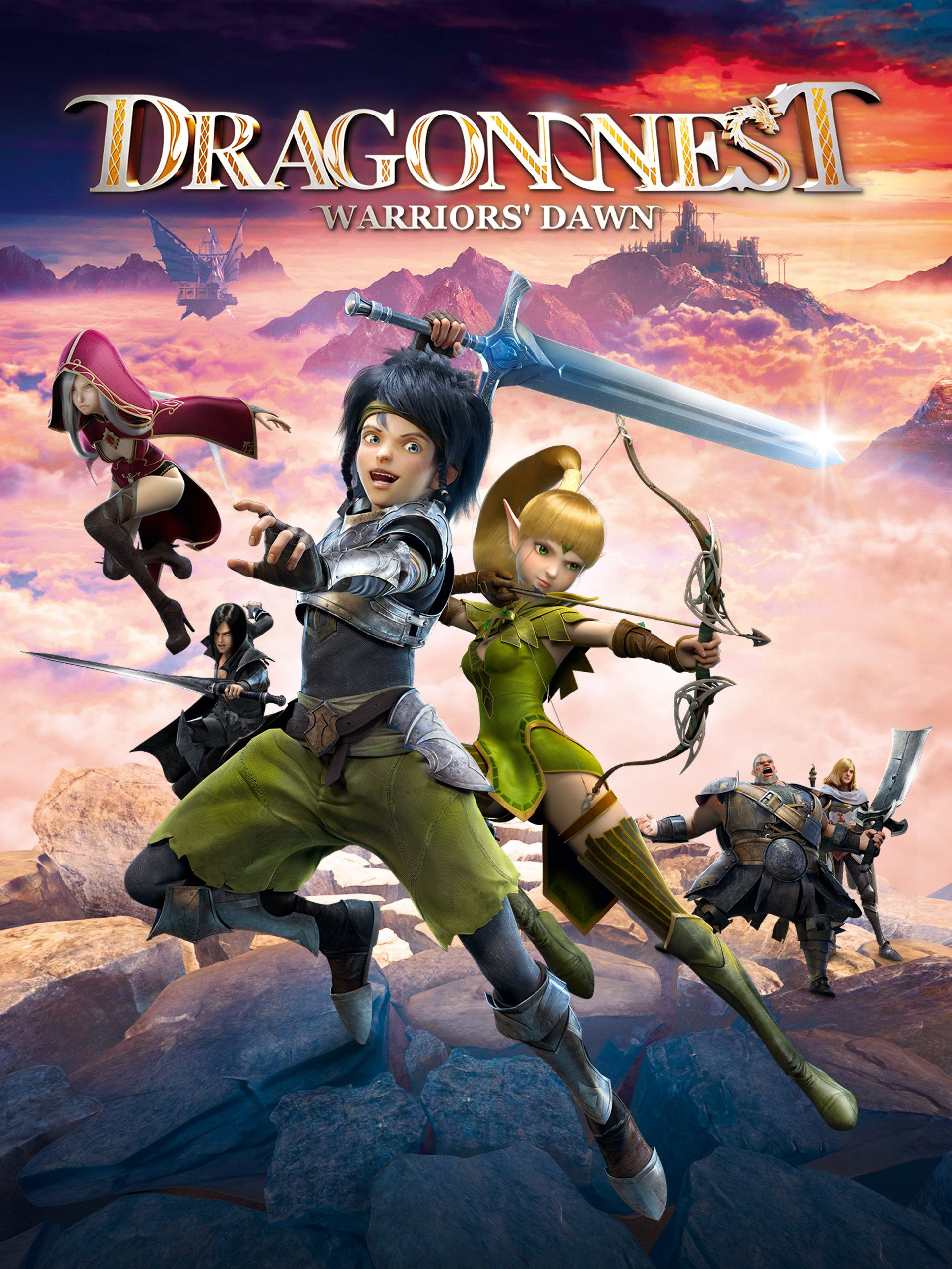 Dragon Nest Warrior's Dawn 2014 Hindi Dual Audio 720p BluRay ESubs 840MB Download