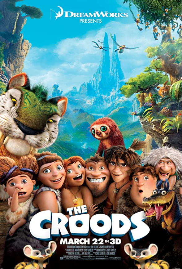 The Croods 2013 Hindi Dual Audio 350MB BluRay ESubs Download