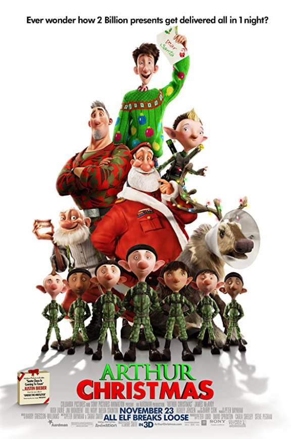 Arthur Christmas 2011 Hindi Dual Audio 300MB BluRay 480p ESubs Download