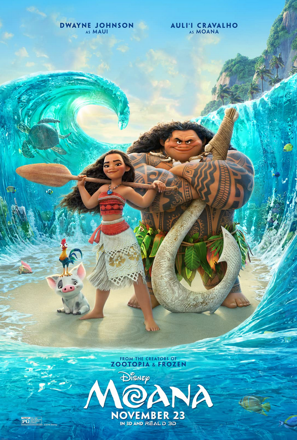 Moana 2016 Hindi Dual Audio 382MB BluRay ESubs Download