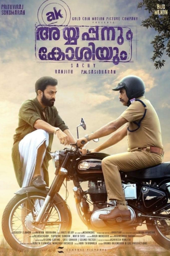 Ayyappanum Koshiyum (2020) Malayalam 720p HDRip 1GB Download