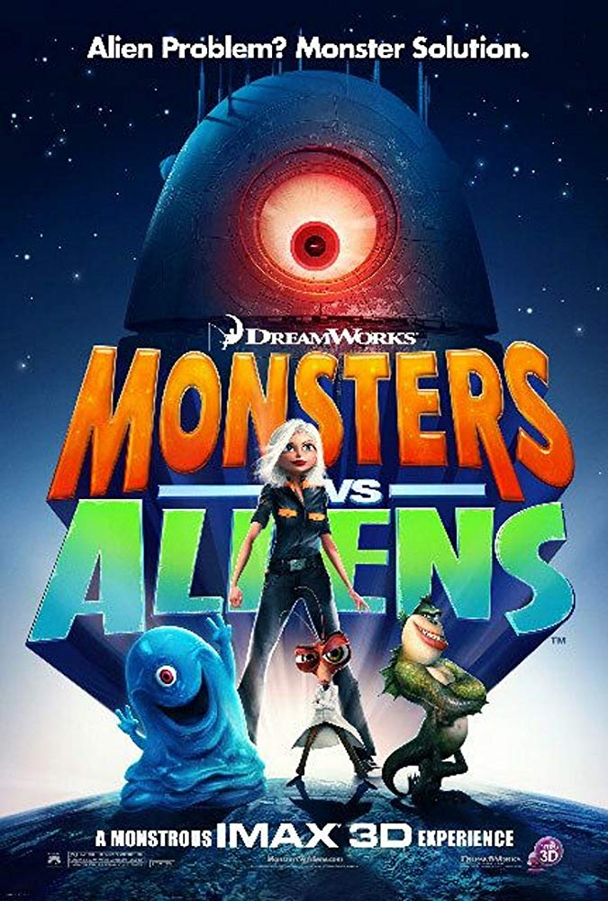 Monsters vs. Aliens 2009 Hindi Dual Audio 350MB BluRay ESubs Download