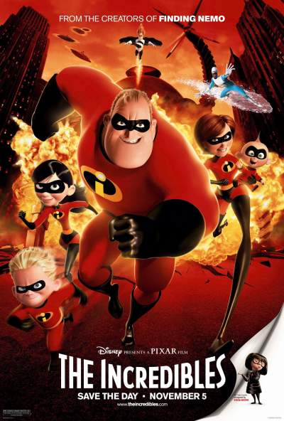 The Incredibles 2004 Hindi Dual Audio 400MB BluRay Download