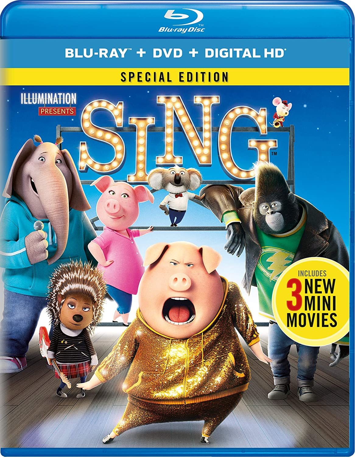 Sing 2016 Hindi Dual Audio 720p BluRay ESubs 800MB Download