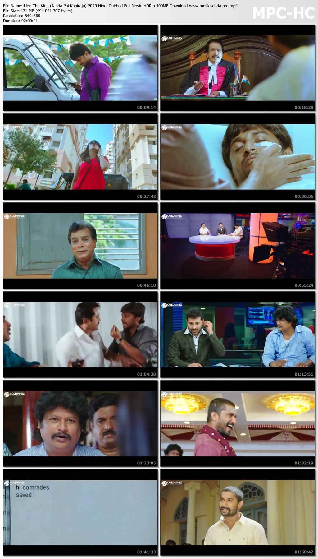 Lion The King Janda Pai Kapiraju 2020 Hindi Dubbed Full Movie Hdrip 400mb Download Bdmusic25 Club