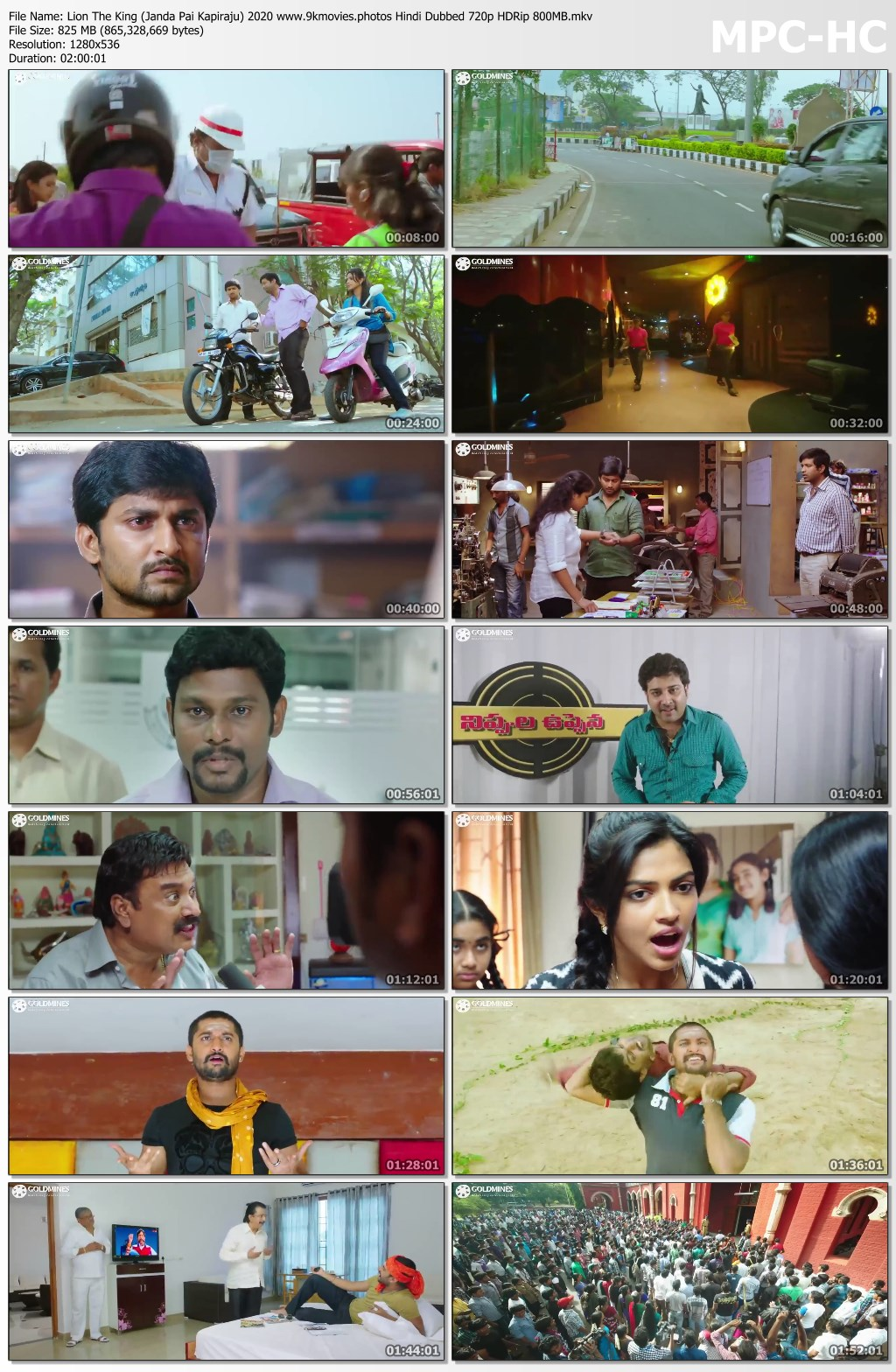 Lion The King Janda Pai Kapiraju 2020 Hindi Dubbed 720p Hdrip 800mb Mkv Kutty Ml Movie