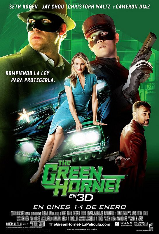The Green Hornet 2011 3D Hindi Dual Audio 720p BluRay ESubs 860MB Download