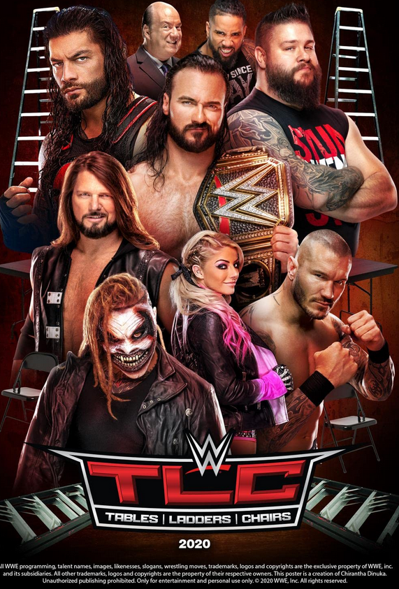 WWE TLC Tables, Ladders & Chairs (20th December 2020) English 720p HDRip 1.3GB | 600MB Download