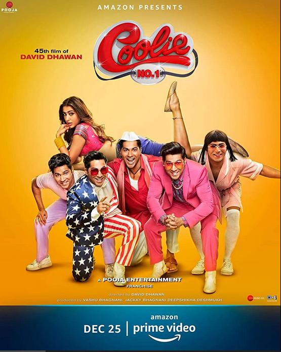Coolie No. 1 (2020) Hindi Movie 480p AMZN HDRip x264 ESubs 400MB