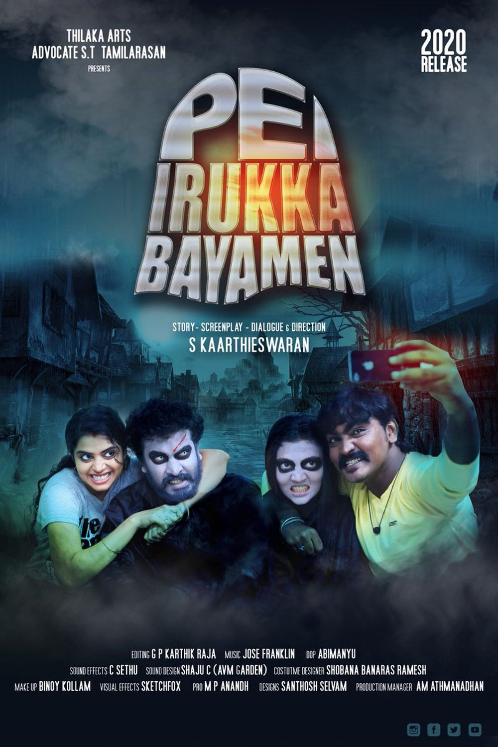 Pei Irukka Bayamen 2021 Tamil 720p pDVDRip 1.1GB Download