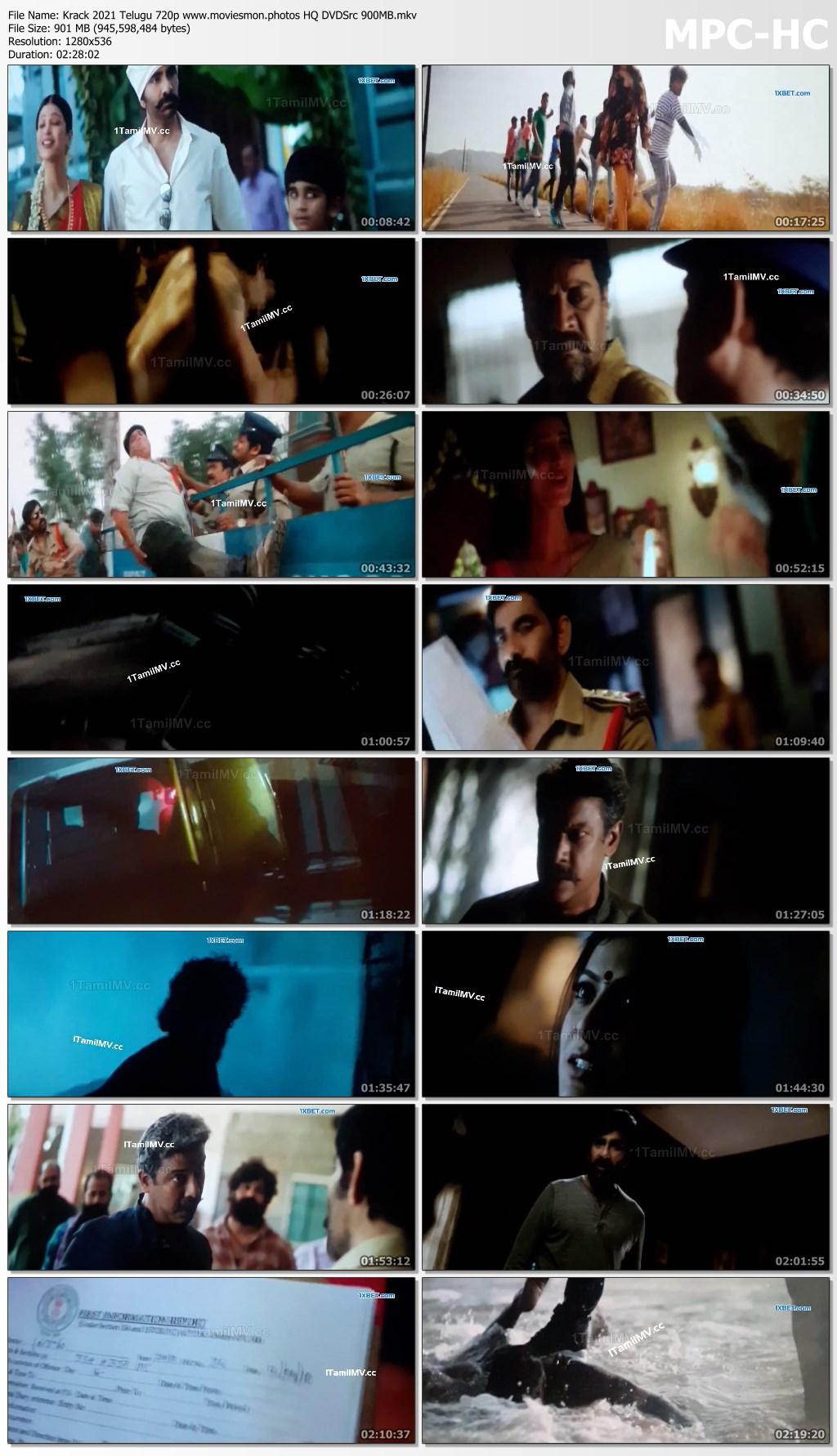 Krack 2021 Telugu Full Movie 720p HQ DVDSrc 950MB Download