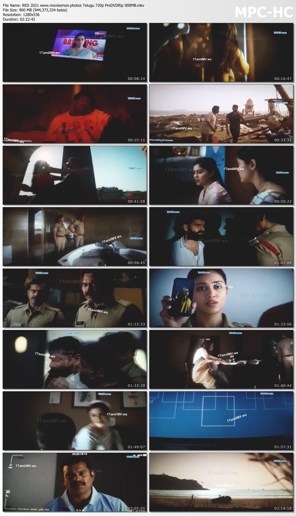 RED 2021 Telugu Full Movie 720p PreDVDRip 900MB Download