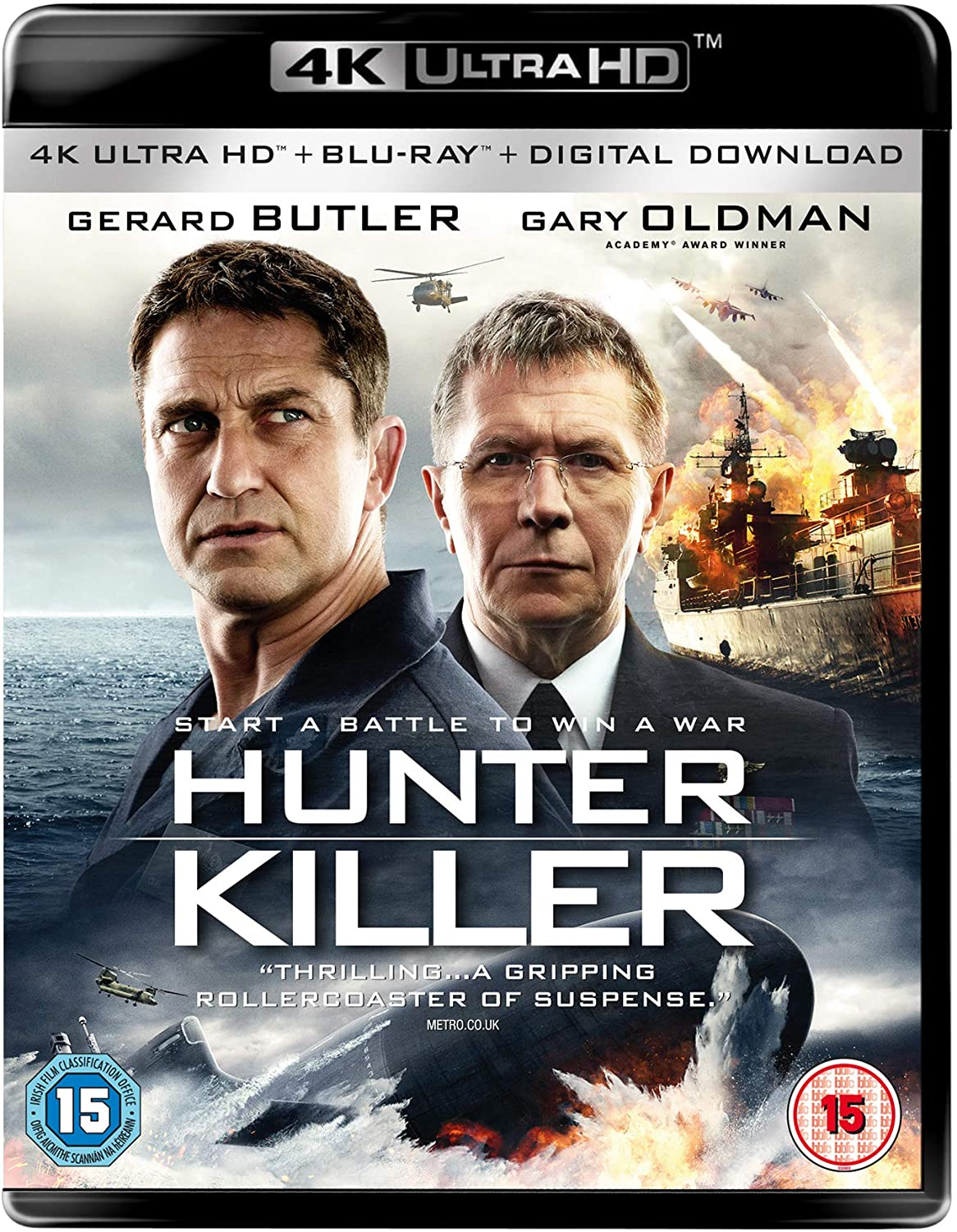 Download Hunter Killer 2018 Hindi ORG Dual Audio 720p BluRay ESubs 1.1GB