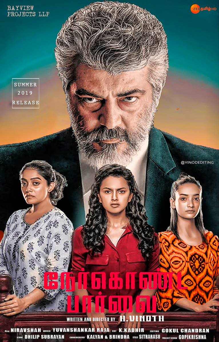 Nerkonda Paarvai (Maha Rakshak) 2019 Dual Audio Hindi 510MB UNCUT HDRip ESub Download