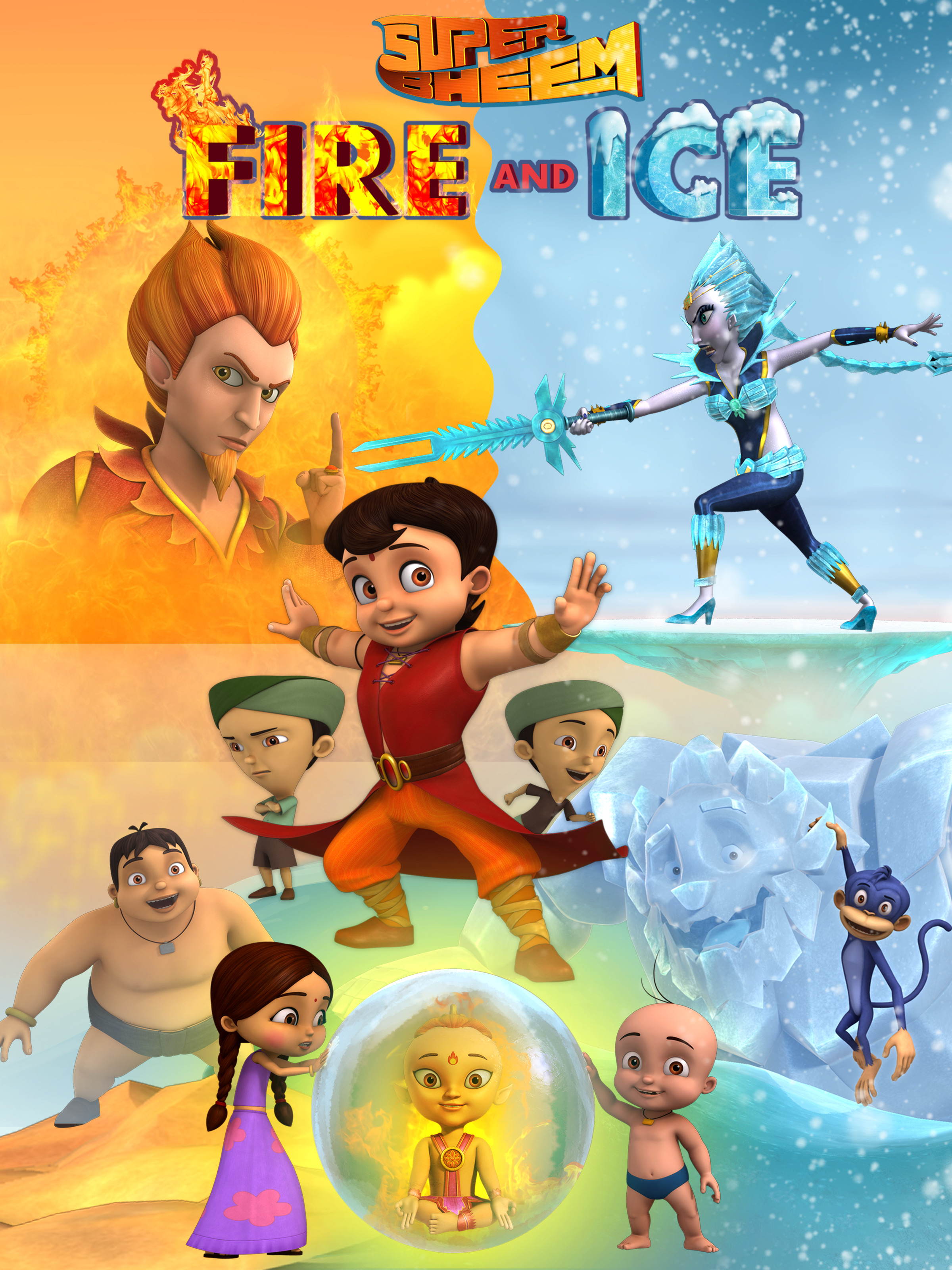 Super Bheem Fire and Ice 2021 Hindi 720p HDRip 450MB Download