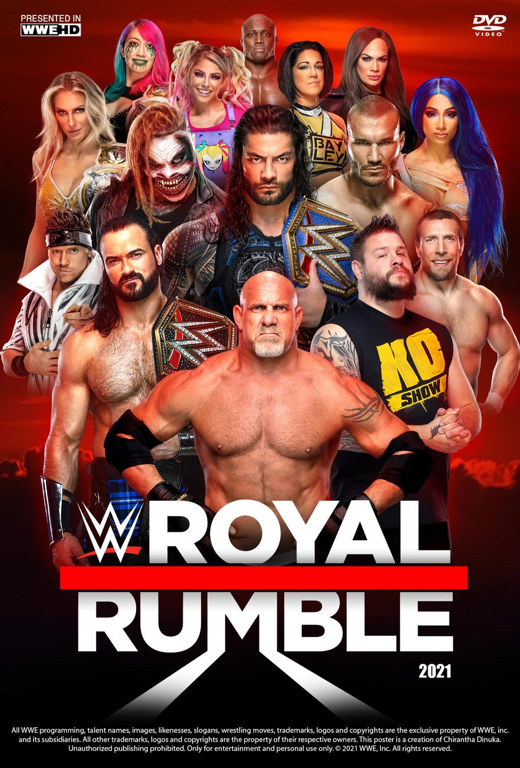 WWE Royal Rumble 2021 English 700MB HDRip 480p Download