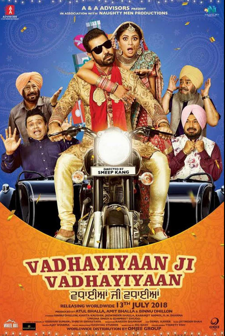 Vadhaiyan Ji Vadhaiyan 2018 Punjabi Movie 350MB HDRip Download