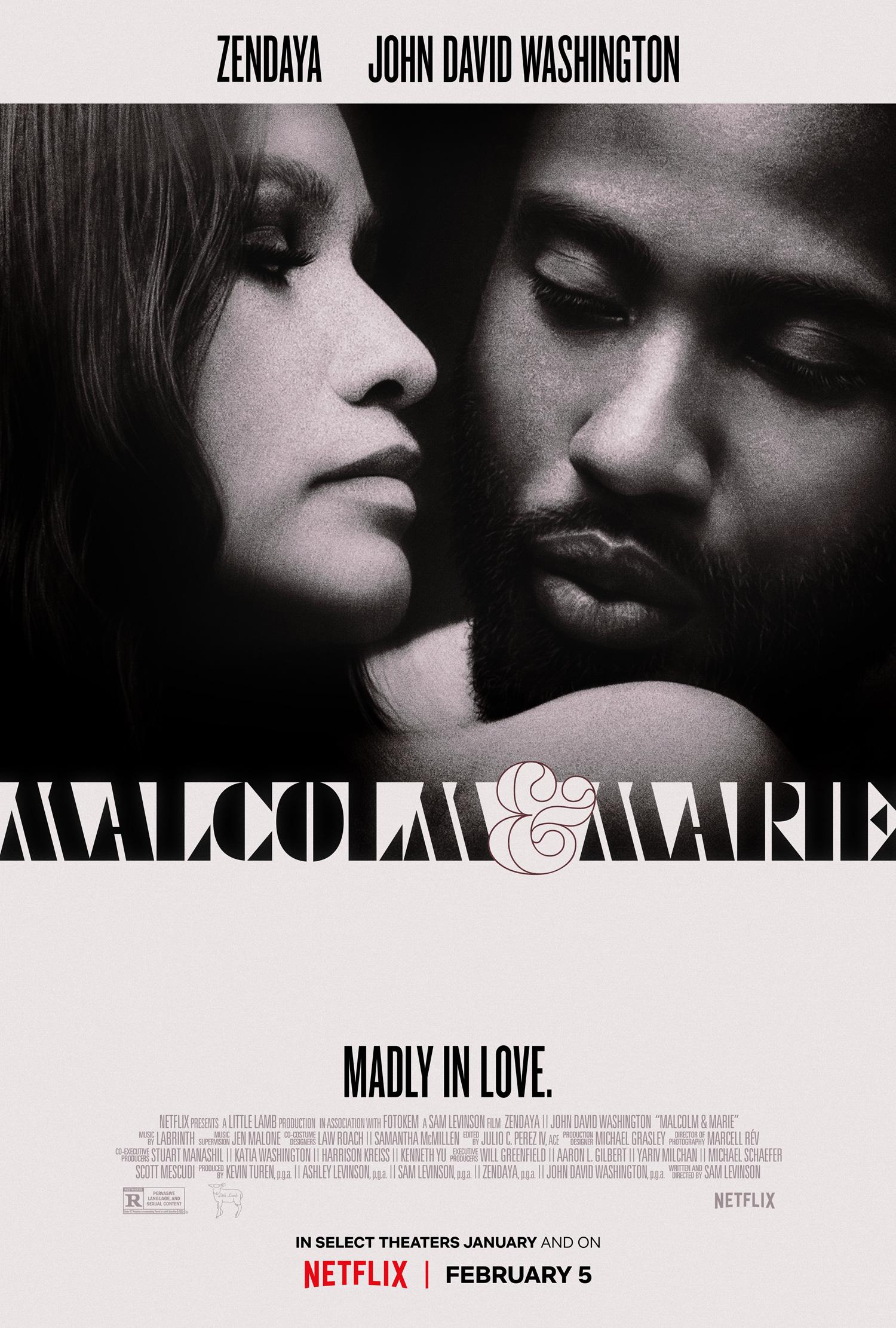 Malcolm & Marie 2021 English 720p HDRip ESubs 800MB | 350MB