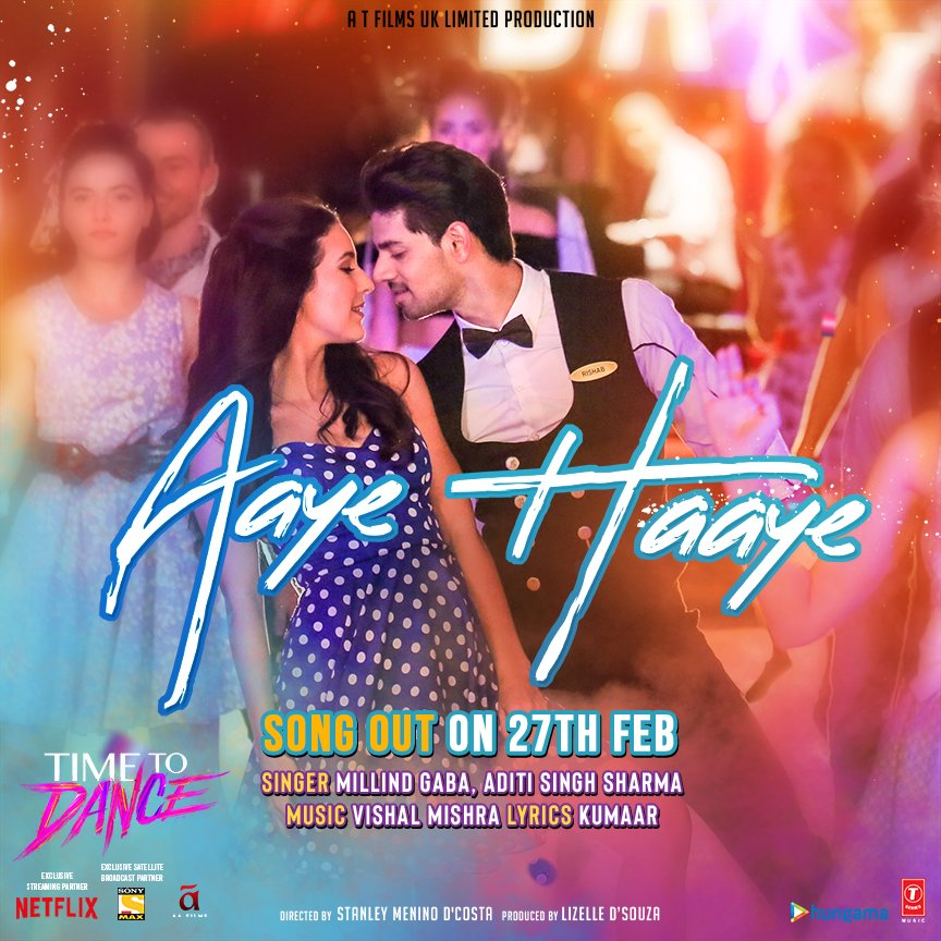 Aaye Haaye (Time To Dance) 2021 Hindi Video Song 1080p HDRip 69MB Download