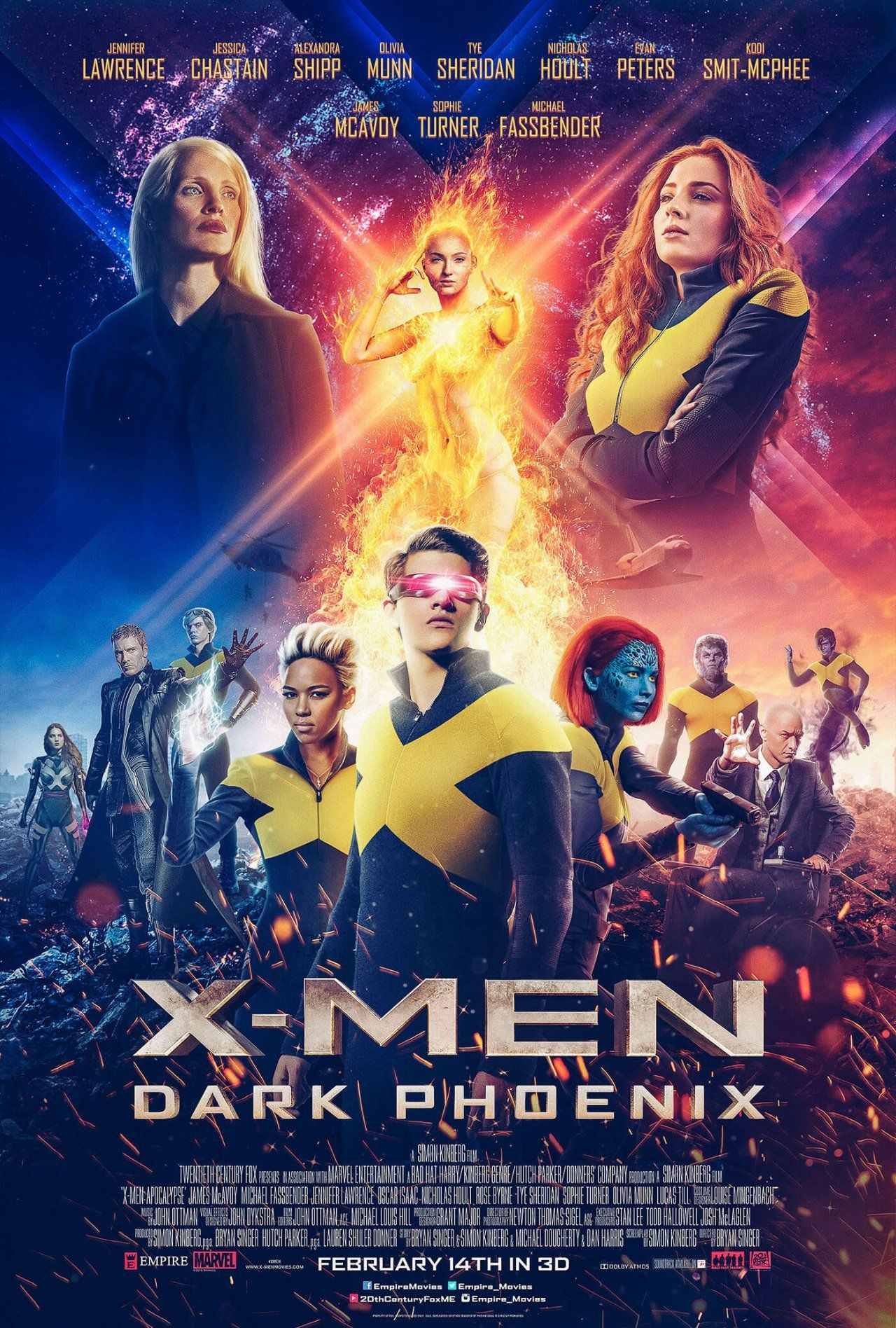 X-Men Dark Phoenix 2019 Hindi Dual Audio 720p BluRay 800MB Download