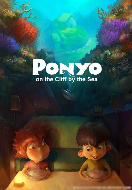 Ponyo 2008 Hindi Dual Audio 350MB BluRay Download