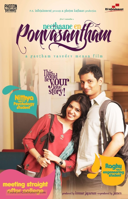 Inteha Pyar Ki (Neethaane En Ponvasantham) 2021 Hindi Dubbed 720p HDRip 800MB Download