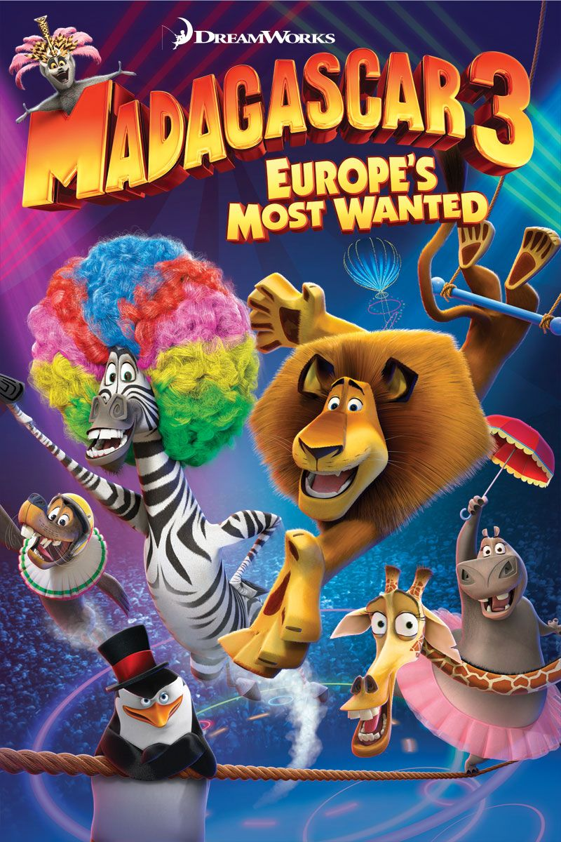 Madagascar 3: Europe's Most Wanted 2012 Hindi Dual Audio 350MB BluRay Watch Online and Download