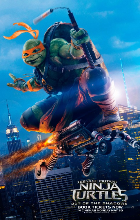 Teenage Mutant Ninja Turtles: Out of the Shadows 2016 Hindi Dual Audio 720p BluRay 800MB Download