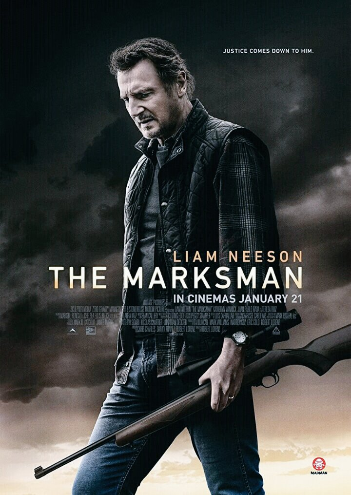The Marksman 2021 English Movie 480p HDRip ESub 350MB x264 AAC