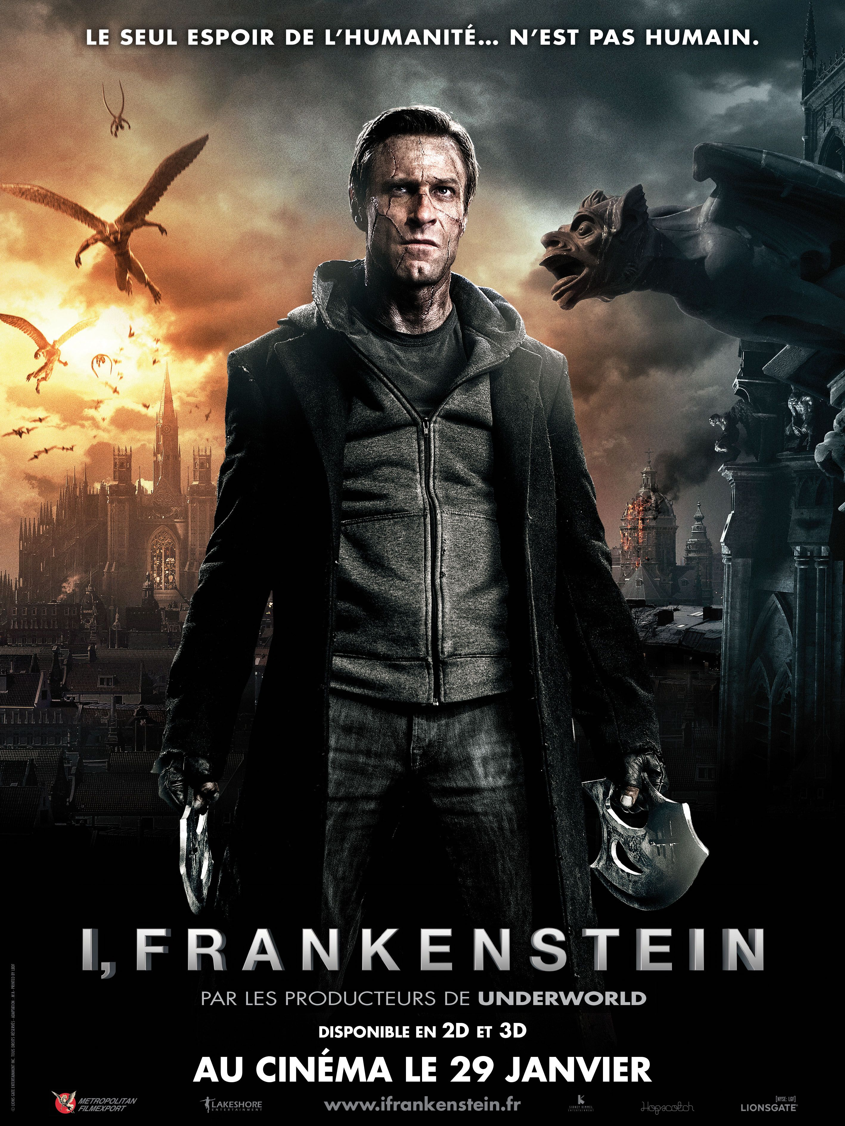 I Frankenstein 2014 Dual Audio Hindi 350MB BluRay 480p ESub Download