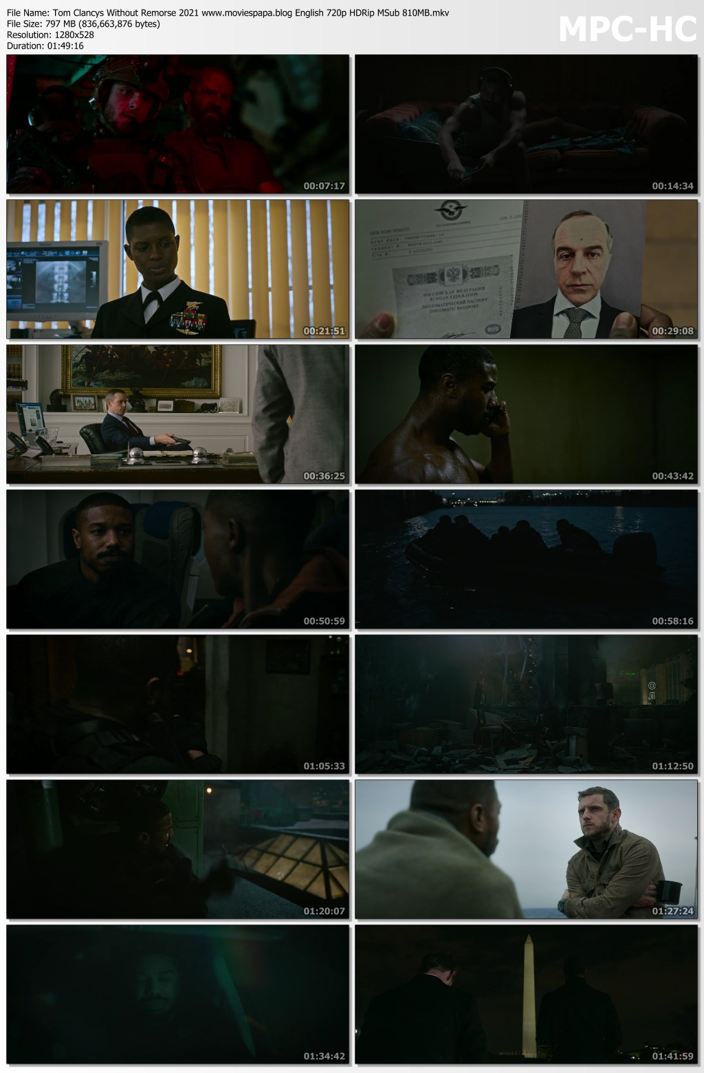Tom Clancy's Without Remorse 2021 screenshot HDMoviesFair
