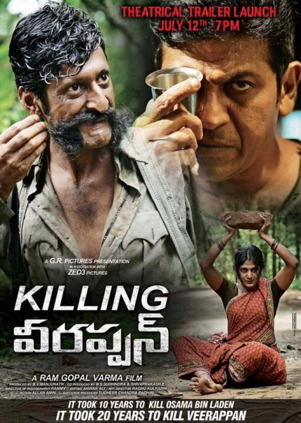 Killing Veerappan 2021 Hindi Dubbed Movie HDRip x264 450MB Download