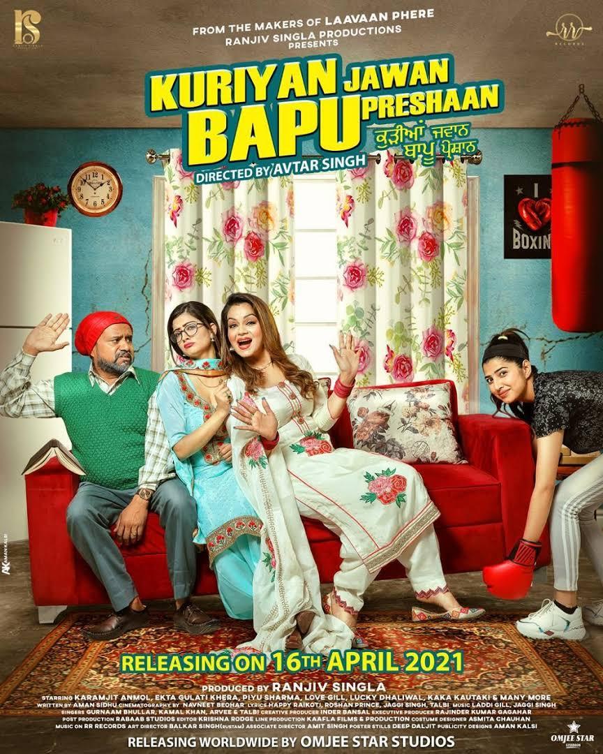 Kuriyan Jawan Bapu Preshaan 2021 Punjabi 720p AMZN HDRip ESub 750MB Download