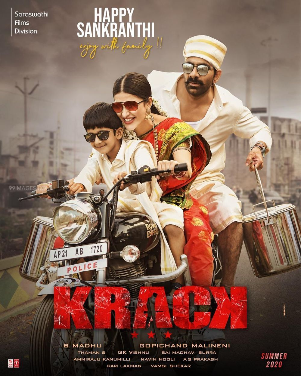 Krack 2021 ORG Hindi Dubbed HDRip 350MB Download