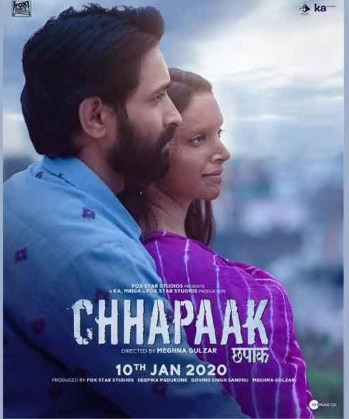 Chhapaak 2020 Hindi Movie 480p Itunes HDRip ESub 382MB Download