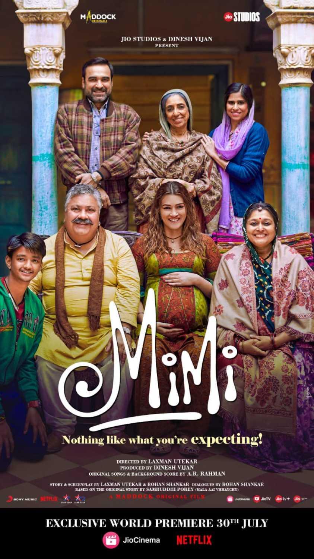 Mimi 2021 Hindi Movie 480p JIO HDRip 450MB Download