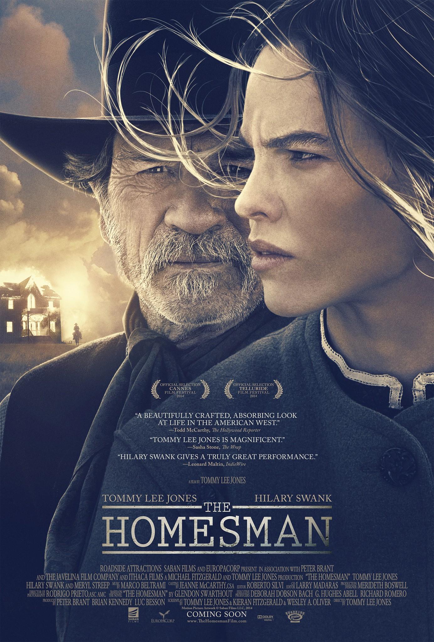Download The Homesman 2014 Hindi ORG Dual Audio 480p BluRay ESub 450MB