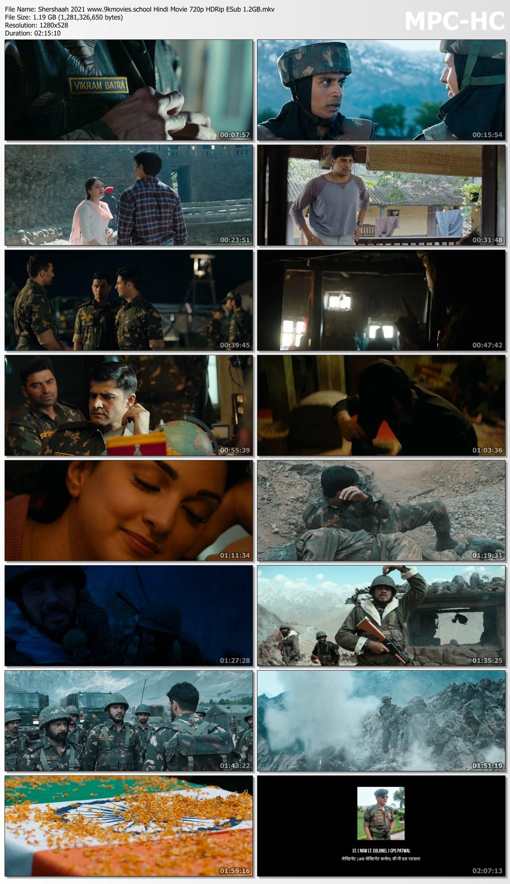 Shershaah 2021 screenshot HDMoviesFair