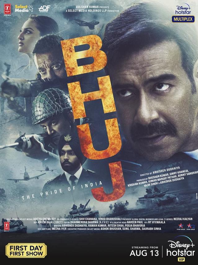 Bhuj The Pride Of India 2021 Hindi Movie 720p DSNP HDRip ESub 1.1GB x264 AAC
