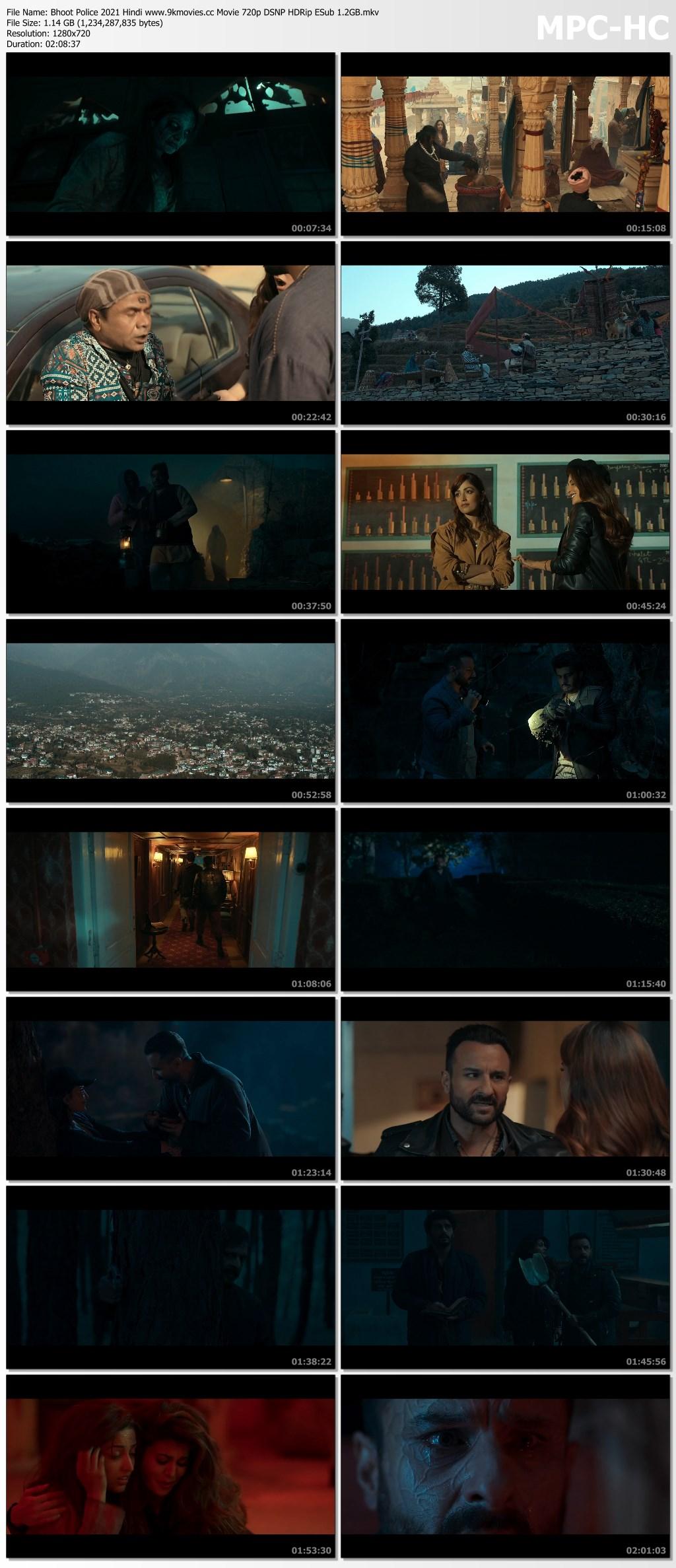 [SCREENSHOT] Bhoot Police 2021 Hindi Movie 720p 1080p HDRip ESub Download