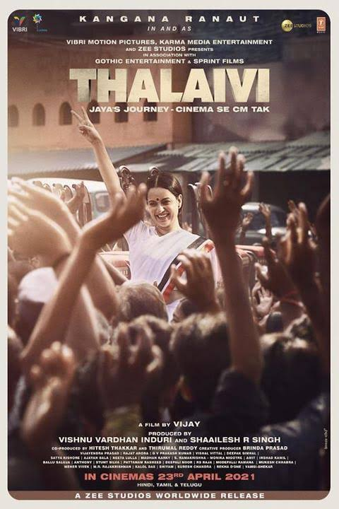 Thalaivi 2021 Hindi Full Movie 720p DVDRip 700MB Download