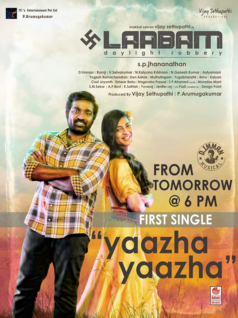 Laabam 2021 Tamil 480p HQ PreDVDRip 400MB Download