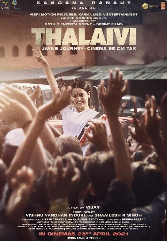 Thalaivi (2021) Hindi Movie ORG HDRip 450MB Download