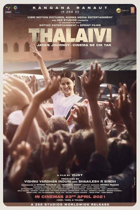 Thalaivi 2021 Hindi HQ 480p 720p PreDVDRip Full Movie HDCAM