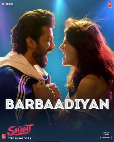 Barbaadiyan (Shiddat 2021) Hindi Movie Video Song 1080p HDRip 44MB Download