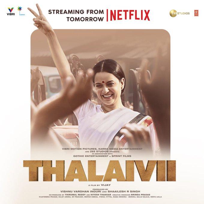 Thalaivi 2021 Hindi Movie 720p NF HDRip ESub 500MB x264 AAC