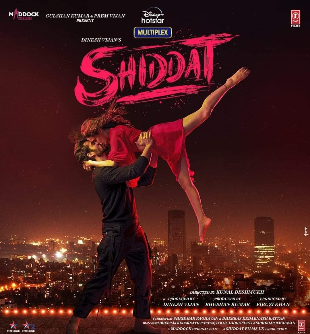 Shiddat 2021 Hindi Movie DSNP HDRip 450MB Download