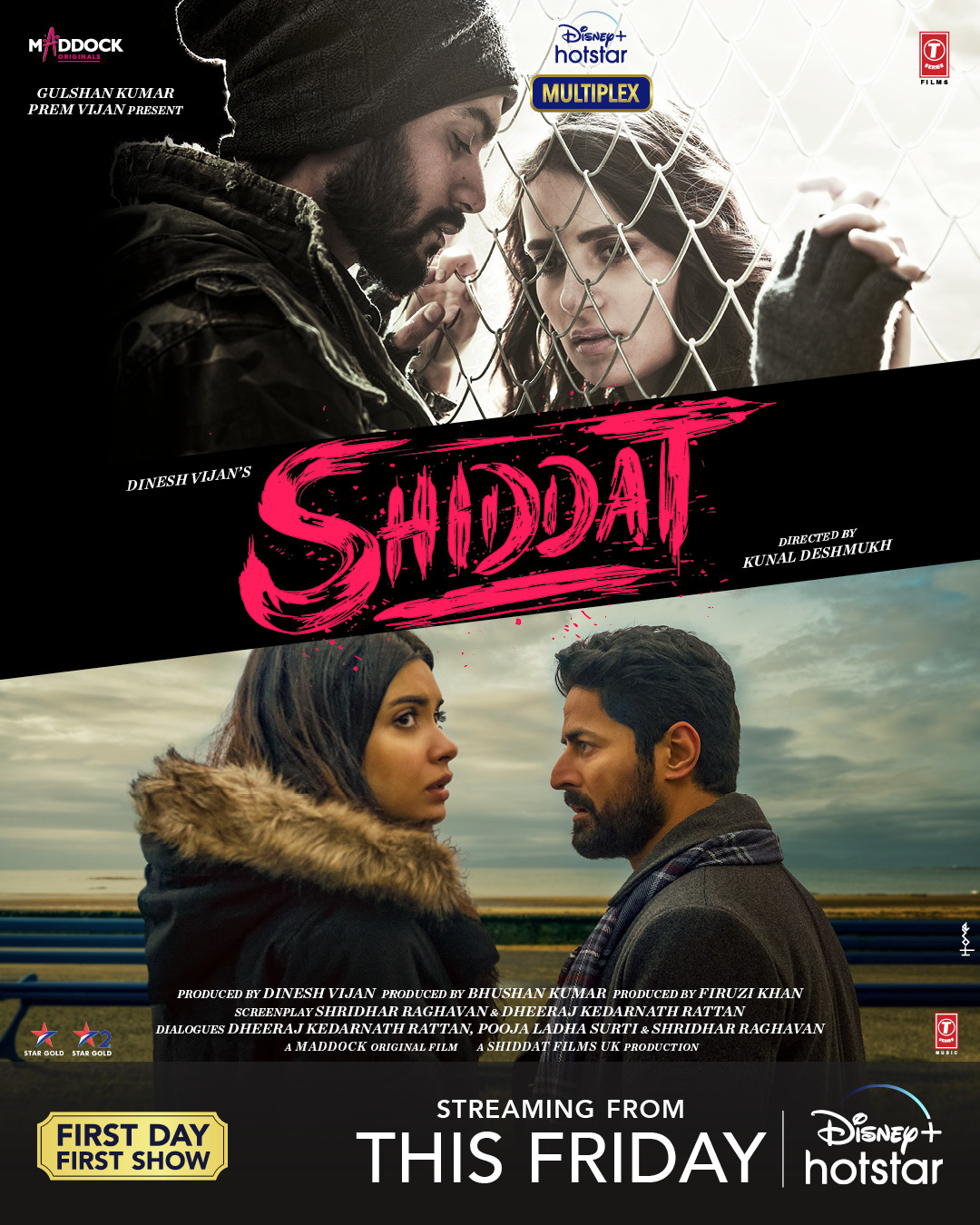Shiddat 2021 Hindi Movie 720p DSNP HDRip ESub 1.8GB | 350MB Download