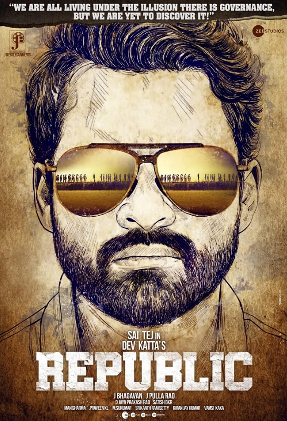 Republic 2021 Telugu Movie 480p HQ PreDVDRip 405MB Download